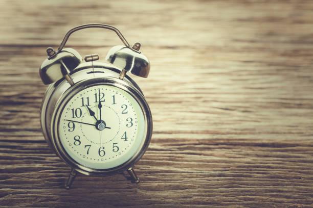 Clock at 11 O'clock in the morning. stock photo