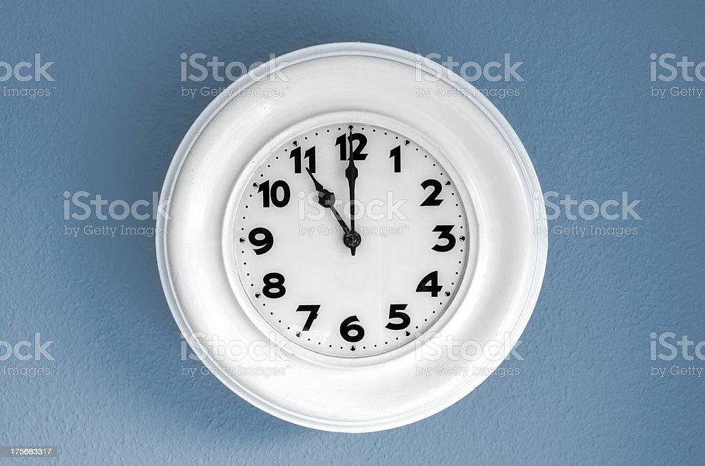 Clock at 11 o'clock royalty-free stock photo