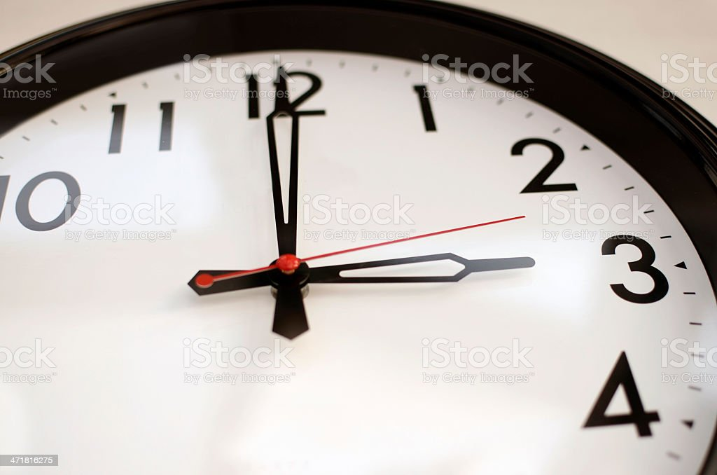 Clock at 3 o'clock stock photo