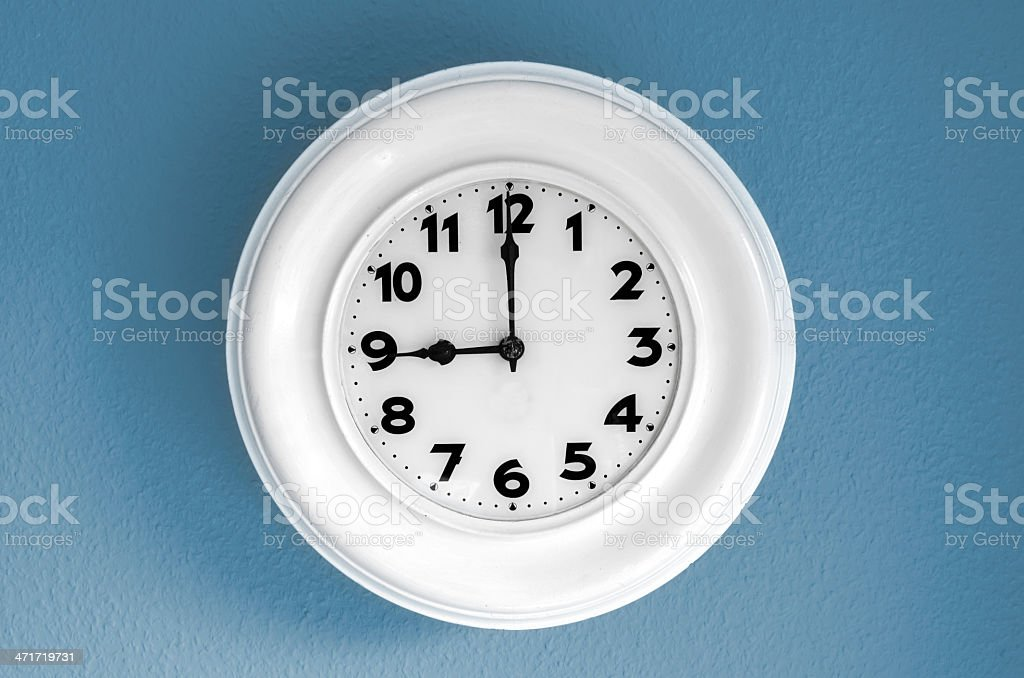 Clock at 9 o'clock stock photo
