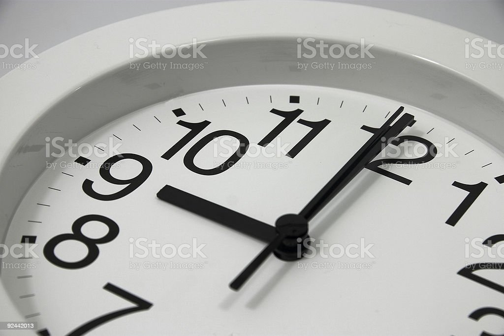 Clock at 9am stock photo