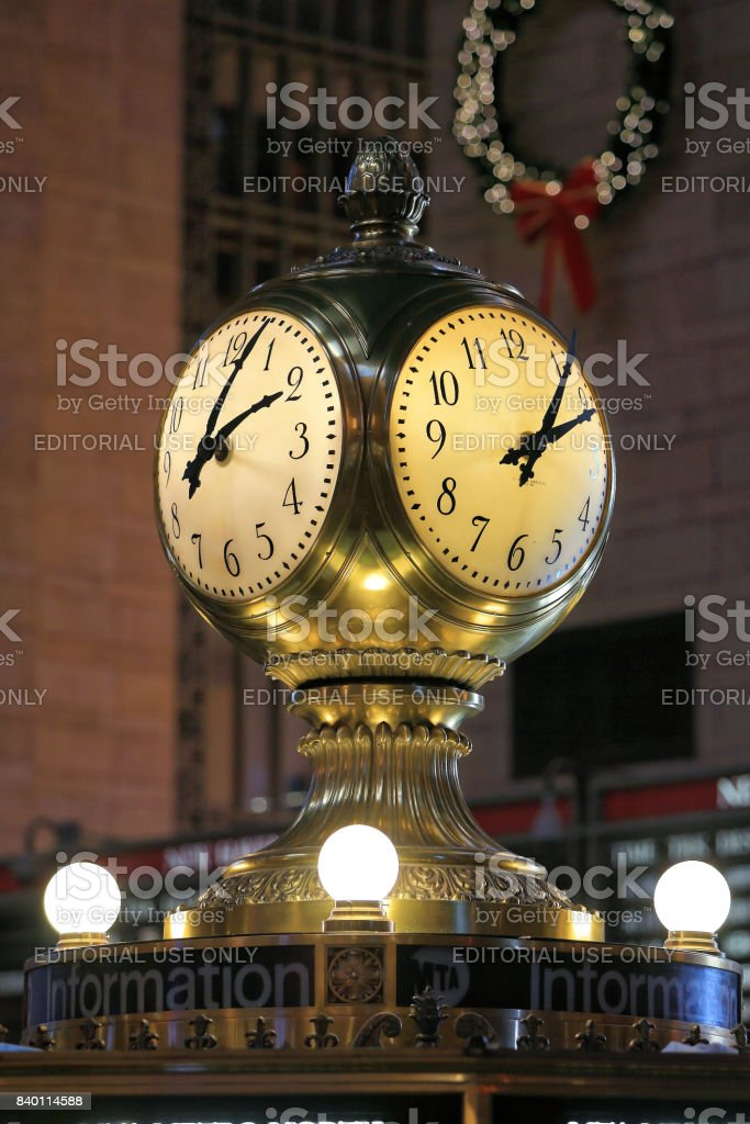 A Clock at Grand Central Sta. stock photo