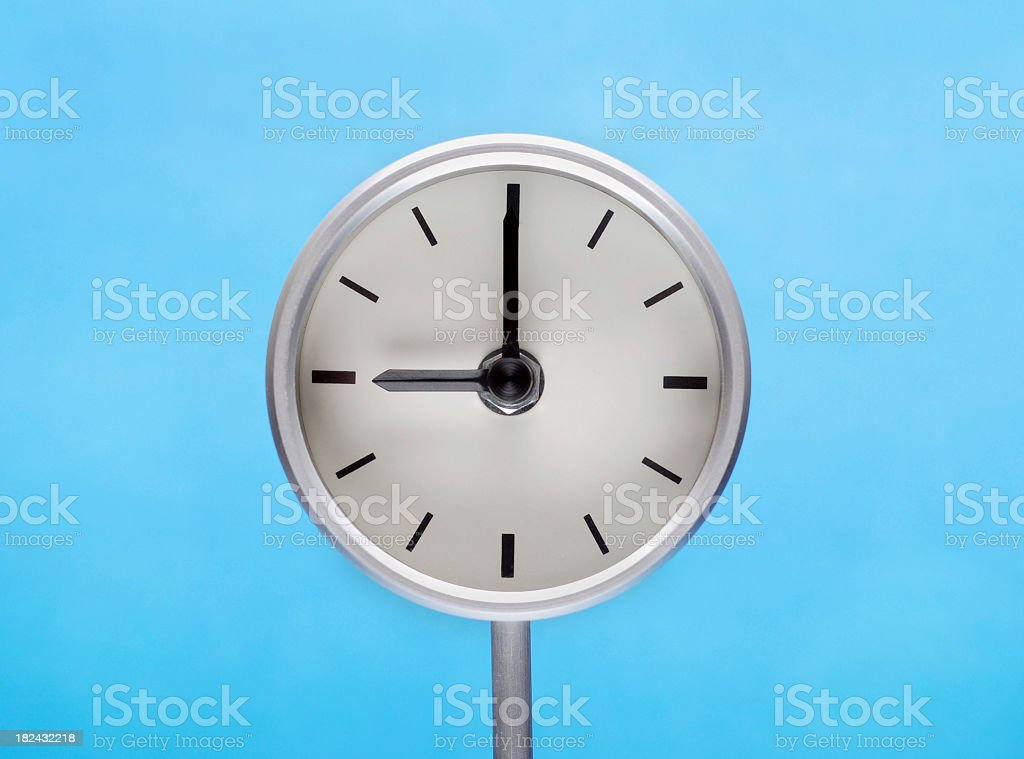 Clock at Nine stock photo