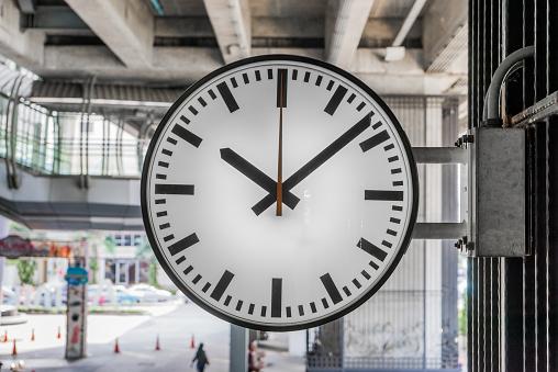 Clock at railway station