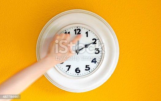 istock Clock at the wall 482784441