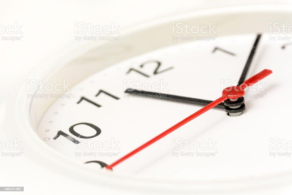 Clock close up stock photo