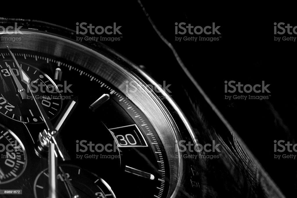 Clock close-up. royalty-free stock photo