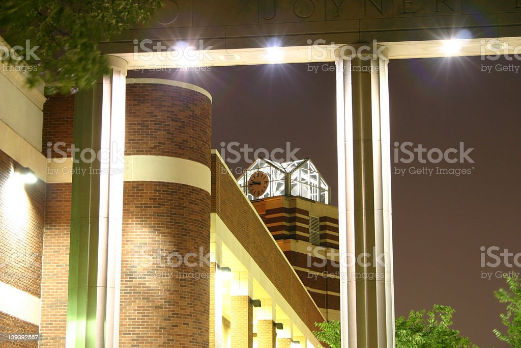 Clock & Columns royalty-free stock photo