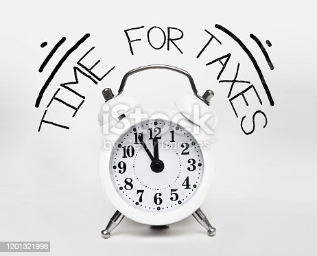 TIME FOR TAXES / Clock concept (Click for more)