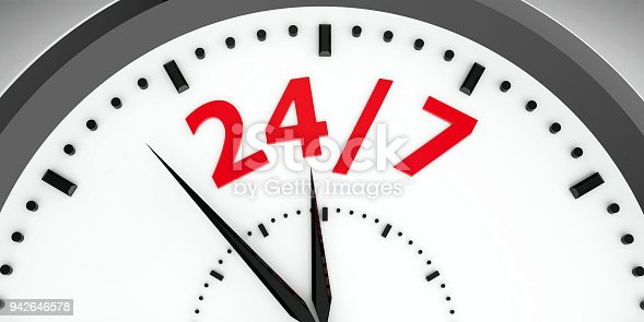 istock Clock dial 24/7 #3 942646578