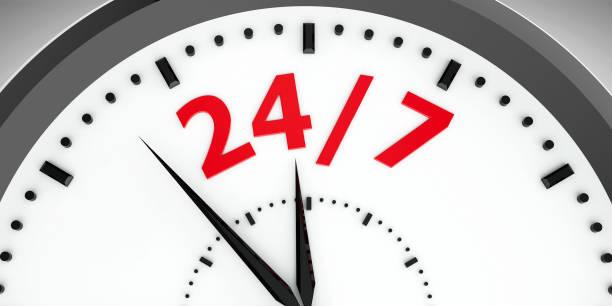 Mostrador de relógio 24/7 #3 - foto de acervo