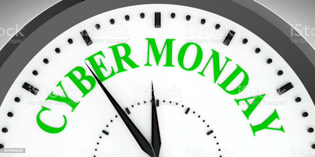 Clock dial Cyber Monday stock photo