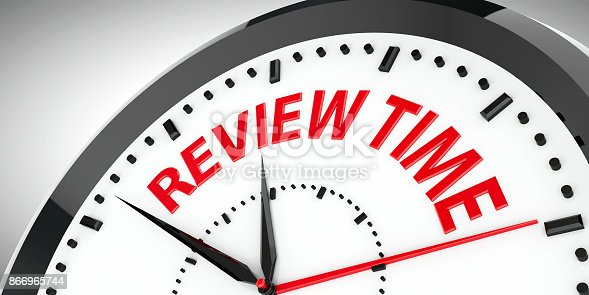 istock Clock dial Review time #2 866965744
