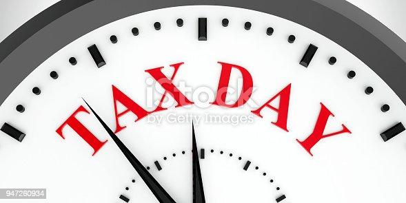 istock Clock dial tax day #2 947260934