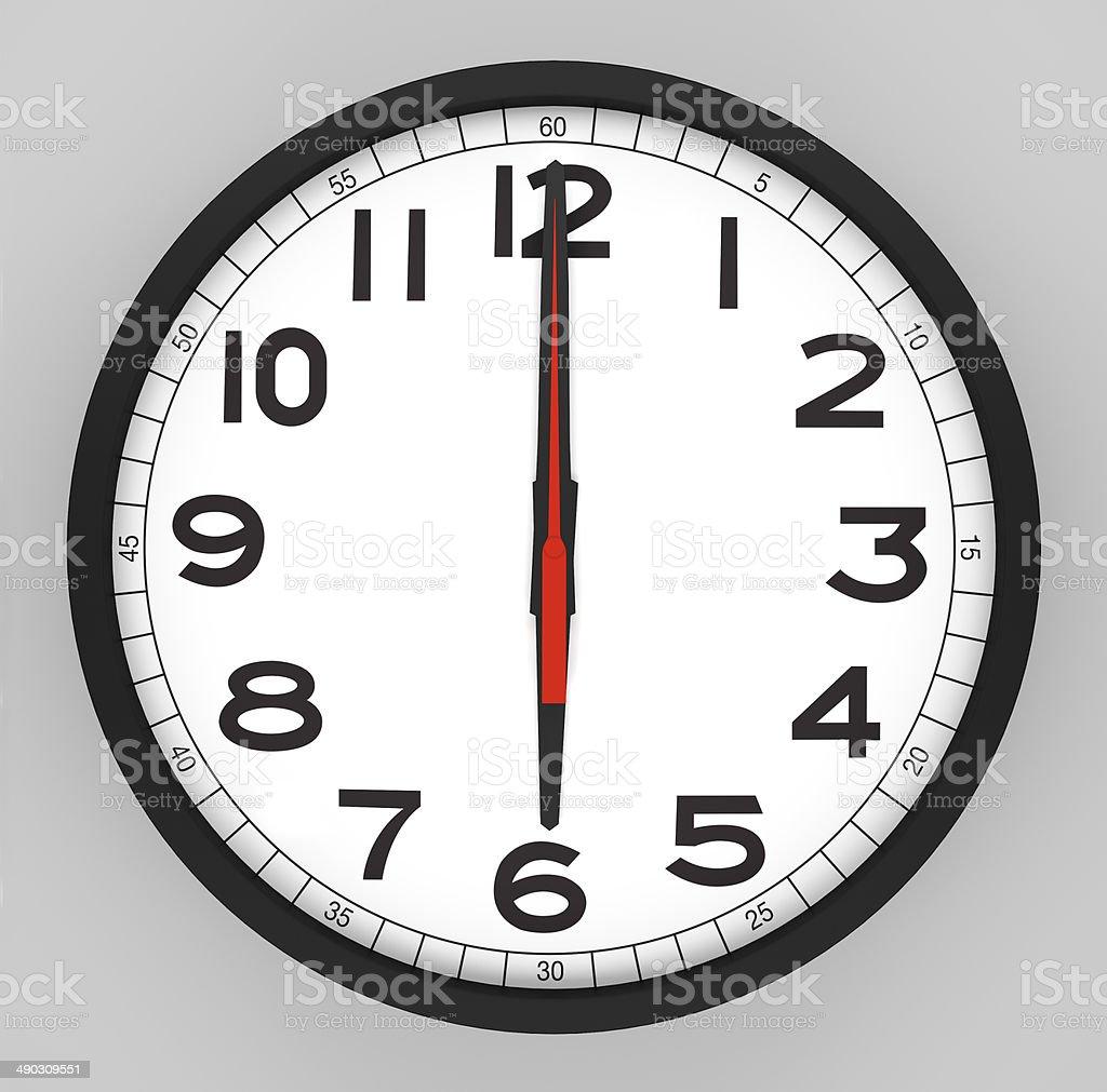 clock Face - 18.00 Uhr – Foto