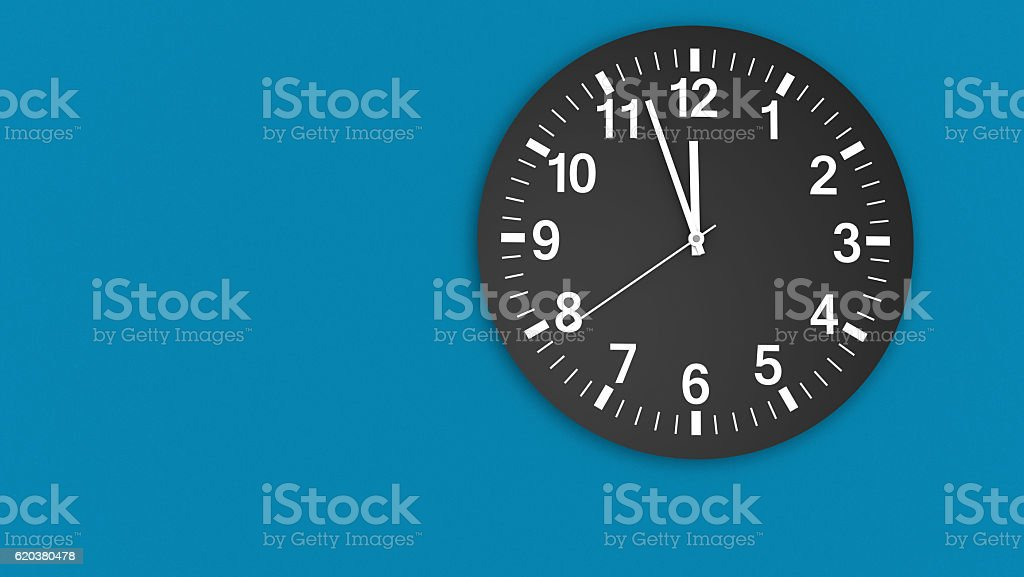 Clock Face Almost Midday Time stock photo