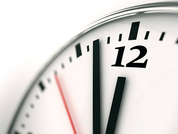 Clock face close-up Clock face close-up midnight stock pictures, royalty-free photos & images