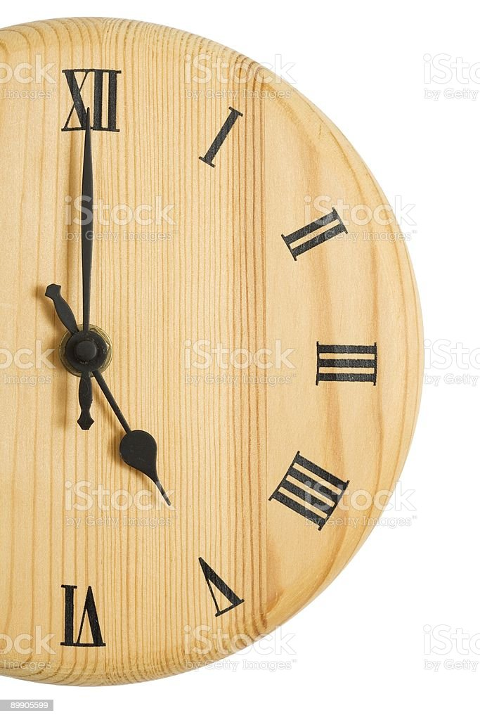 Clock face cropped royalty-free stock photo