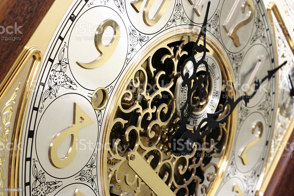grandfather clock face gears. clock face detail royaltyfree stock photo grandfather gears o