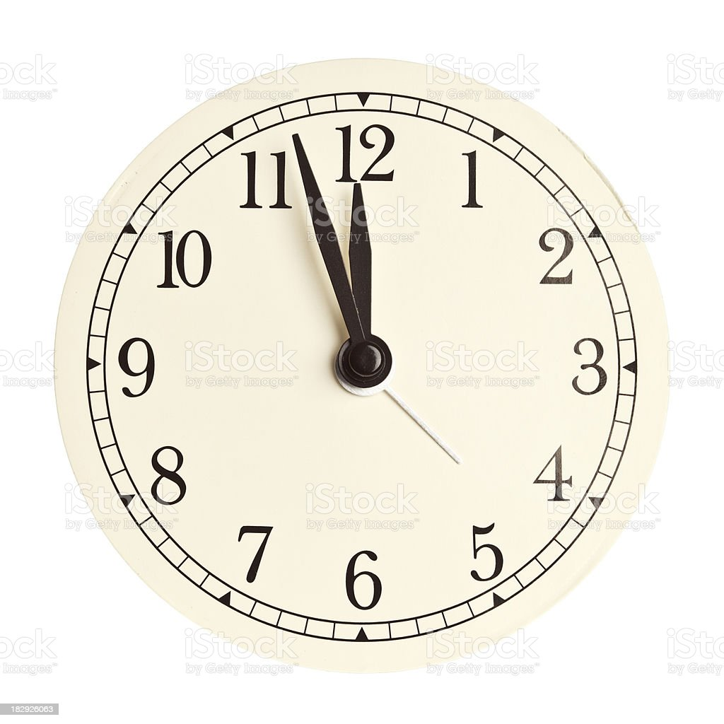 Clock face isolated royalty-free stock photo