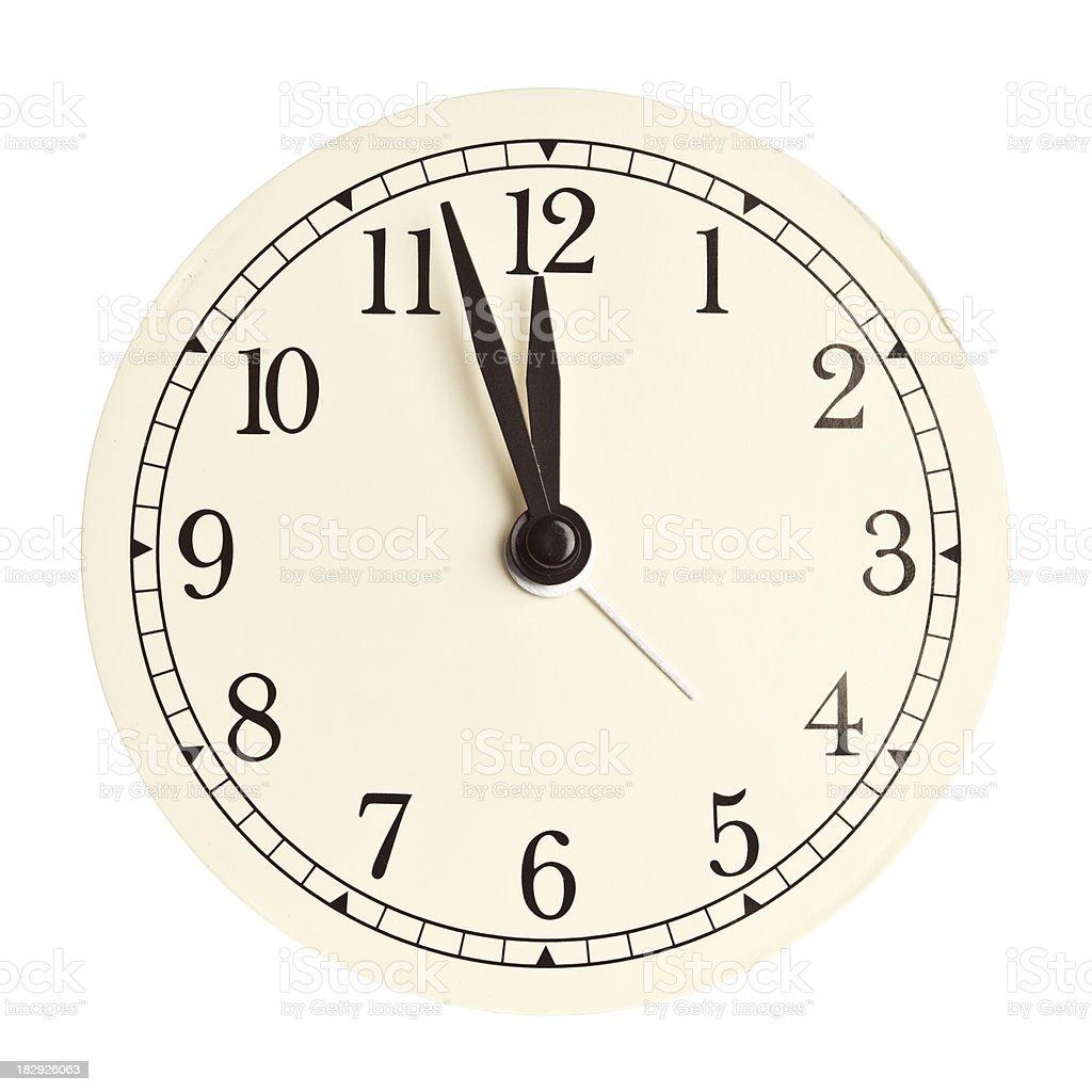Clock face isolated stock photo