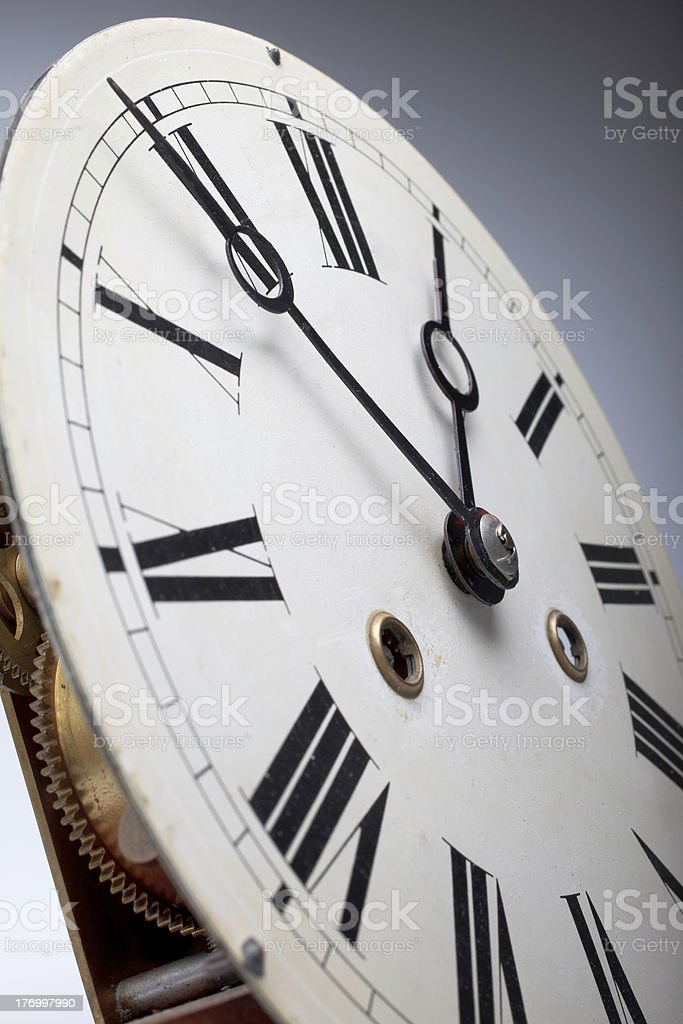 Clock face of an antique watch stock photo