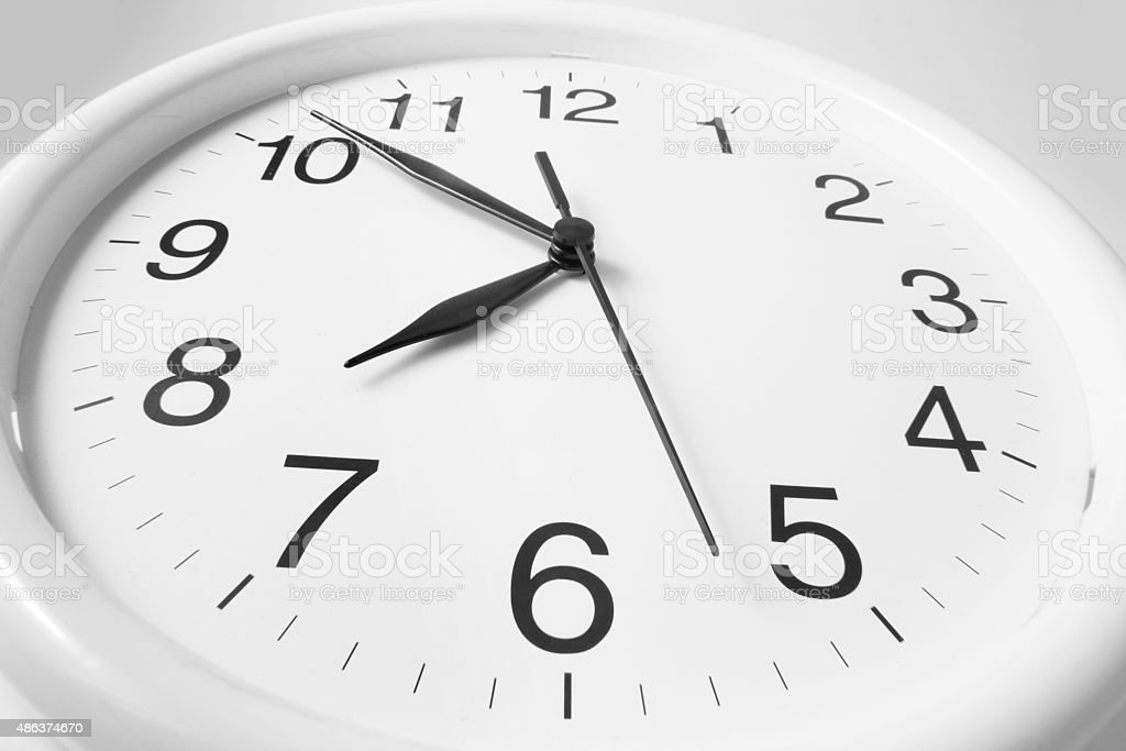 Close Up of Clock Face on Seamless Background