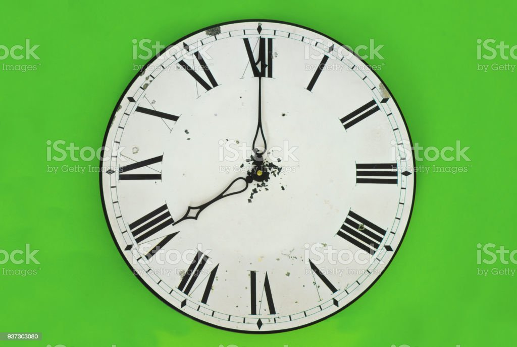 Clock face showing time stock photo