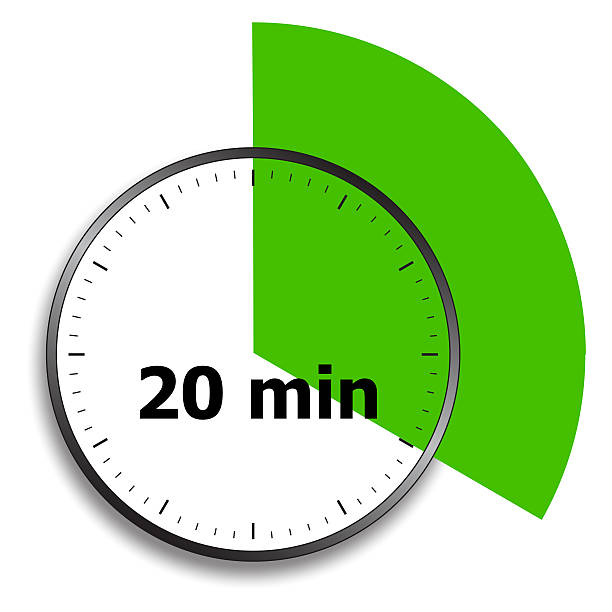 clock face stopwatch - number 20 stock photos and pictures