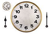 istock DIY clock face with hands 153095883