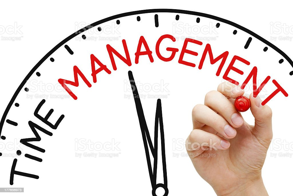 A clock for a time management concept royalty-free stock photo