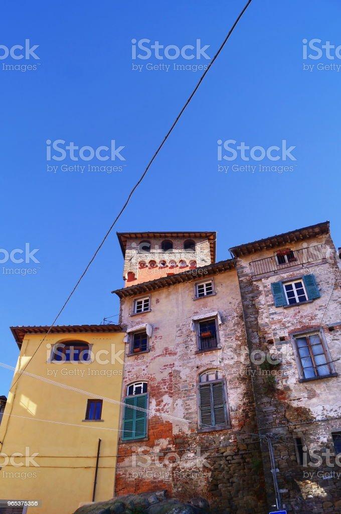 Uhr-Tor, Loro Ciuffenna, Toskana - Lizenzfrei Alt Stock-Foto