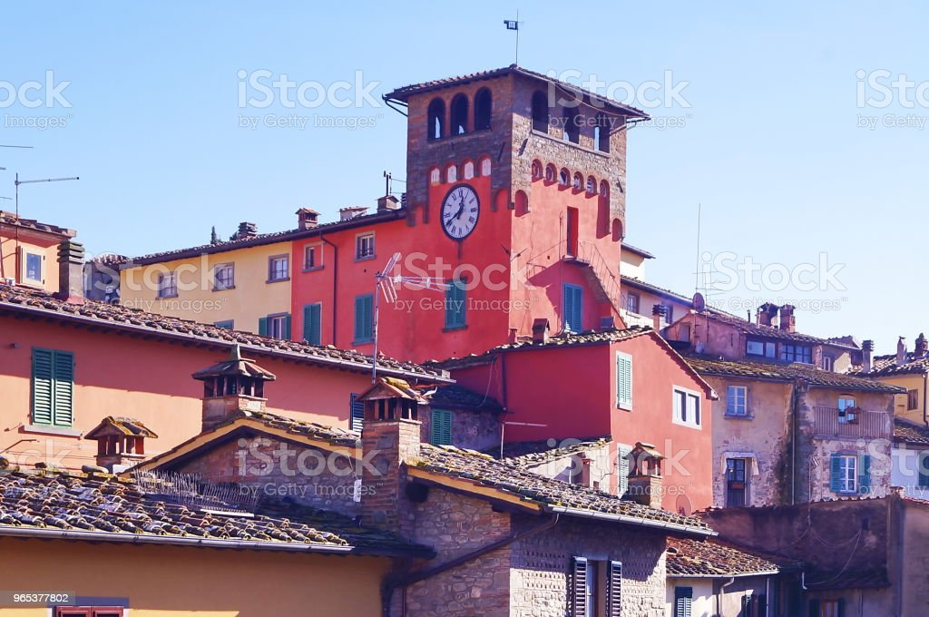 Porte de l'horloge, Loro Ciuffenna, Toscane - Photo de Antique libre de droits