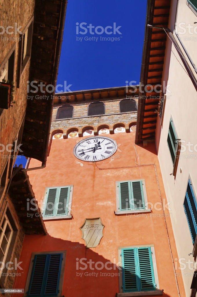 Clock Gate, Loro Ciuffenna, Tuscany zbiór zdjęć royalty-free