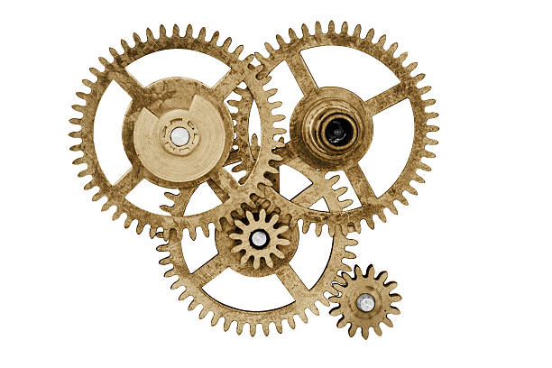 Clock gear set stock photo