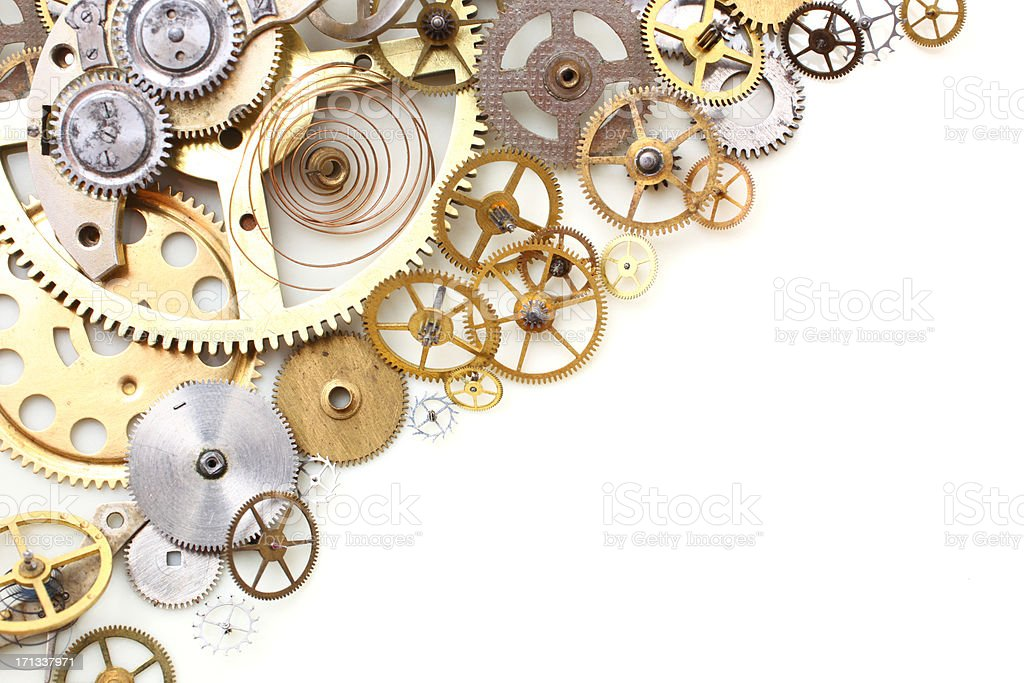 Clock Gears stock photo