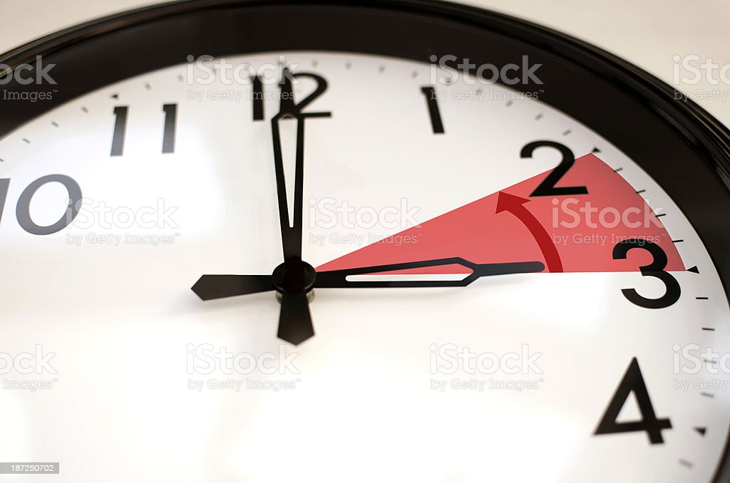 Clock goes backwards stock photo