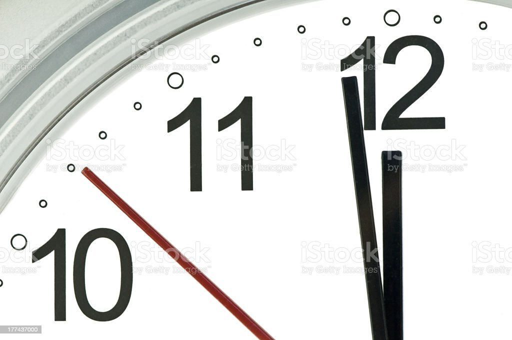 clock hands stock photo