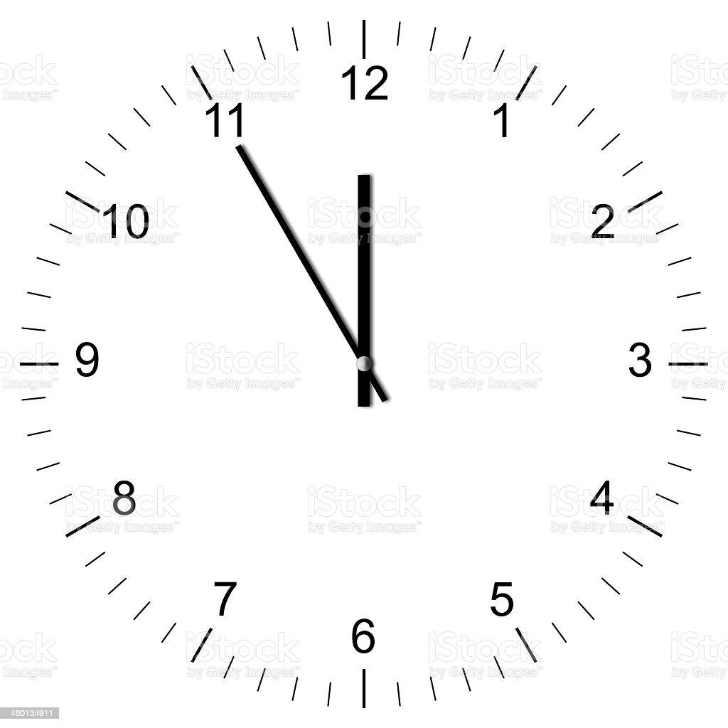 Clock Illustration 11:00 stock photo