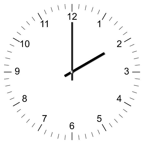 Clock Illustration 2:00 Illustration of a Clock showing 2:00 isolated on white background clock hand stock pictures, royalty-free photos & images