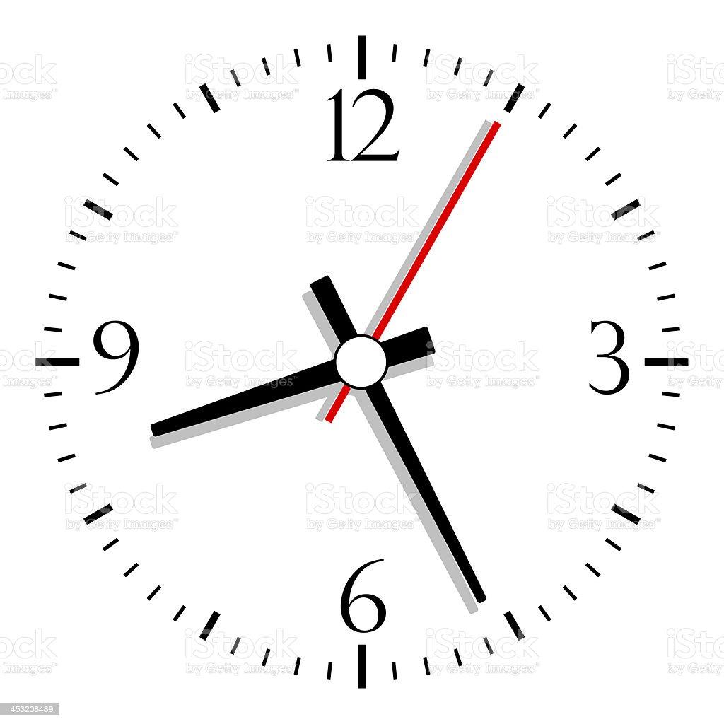 Clock illustration stock photo