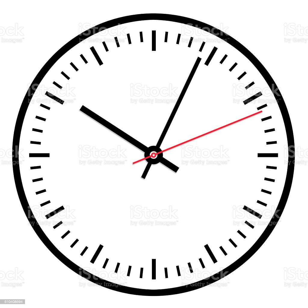 clock illustration white stock photo