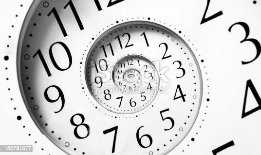 istock Clock in an infinite spiral 153781677