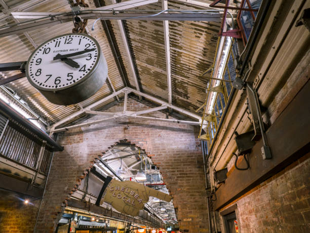 Uhr im Chelsea Market – Foto
