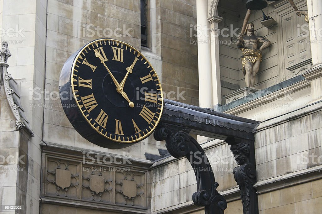 Clock in London royalty-free stock photo