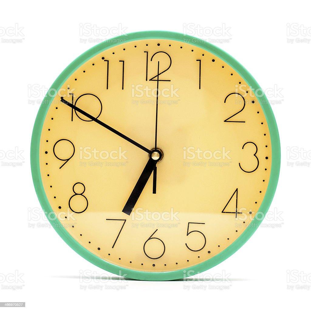 Clock isolated on white background stock photo