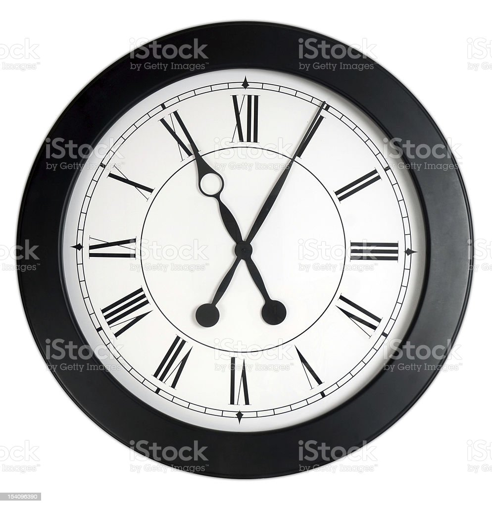 Clock isolated royalty-free stock photo