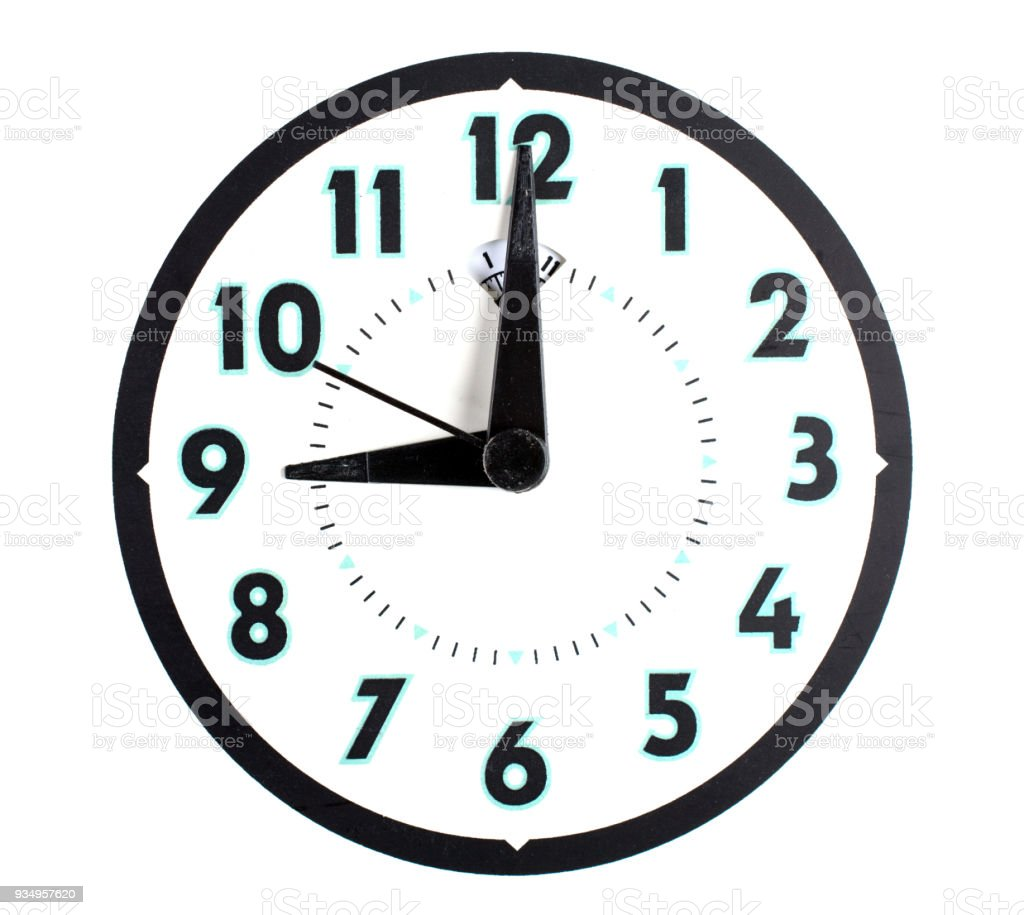 A Clock Isolated With Clipping Path 9 Oclock