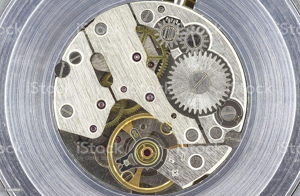 Clock Mechanism stock photo