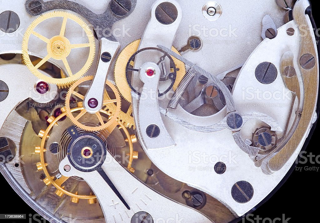 Clock mechanism royalty-free stock photo